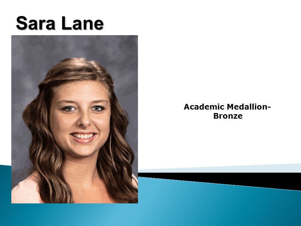 Sara Lane Academic Medallion- Bronze