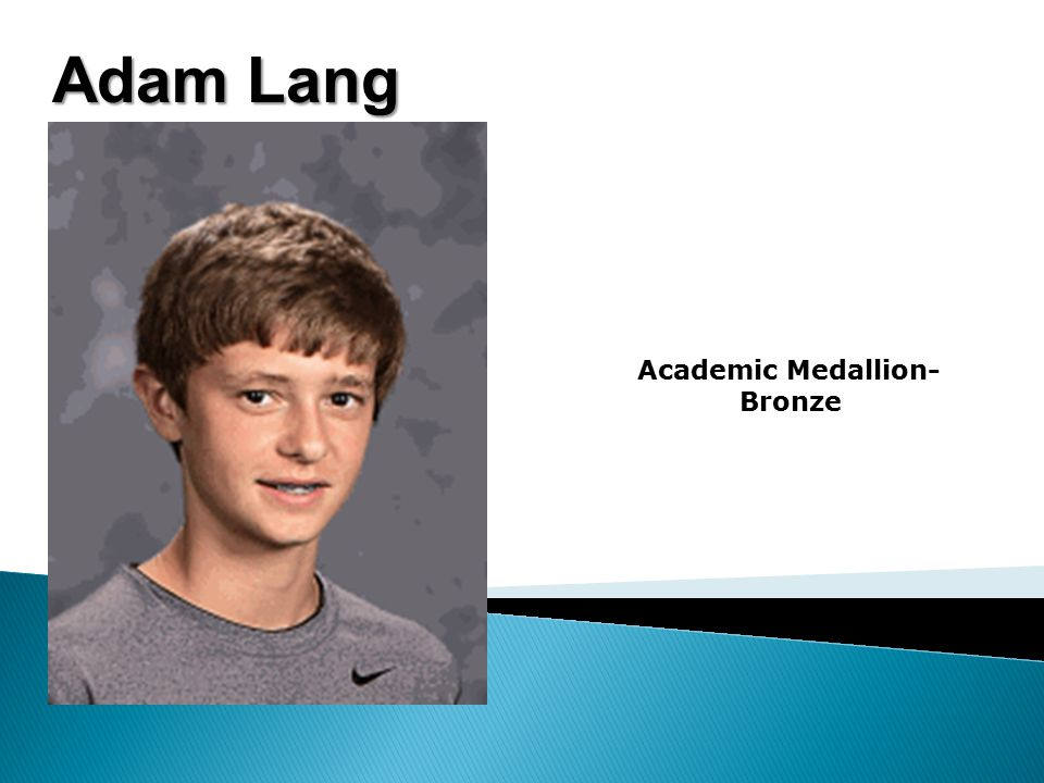 Adam Lang Academic Medallion- Bronze