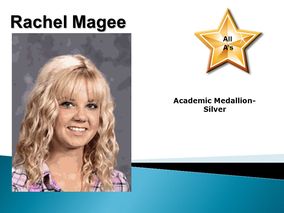 Rachel Magee All A's Academic Medallion- Silver