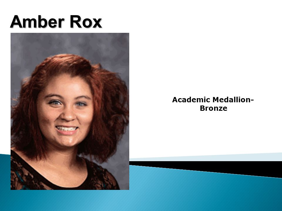 Amber Rox Academic Medallion- Bronze