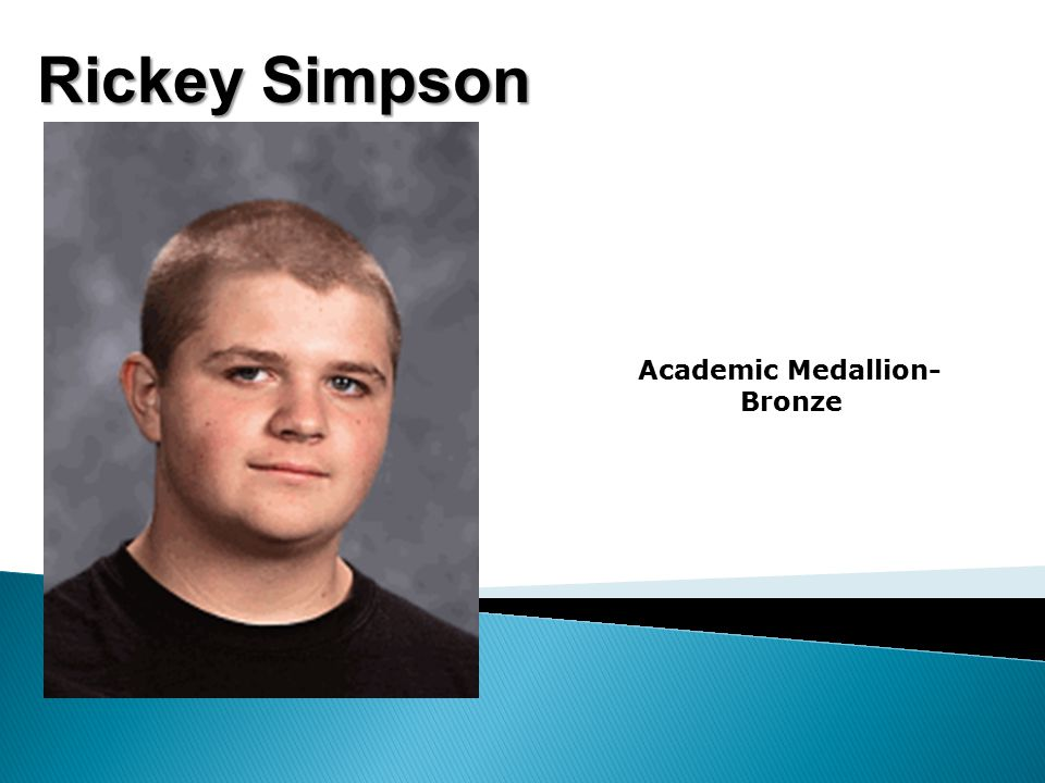 Rickey Simpson Academic Medallion- Bronze