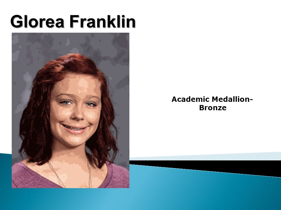 Glorea Franklin Academic Medallion- Bronze