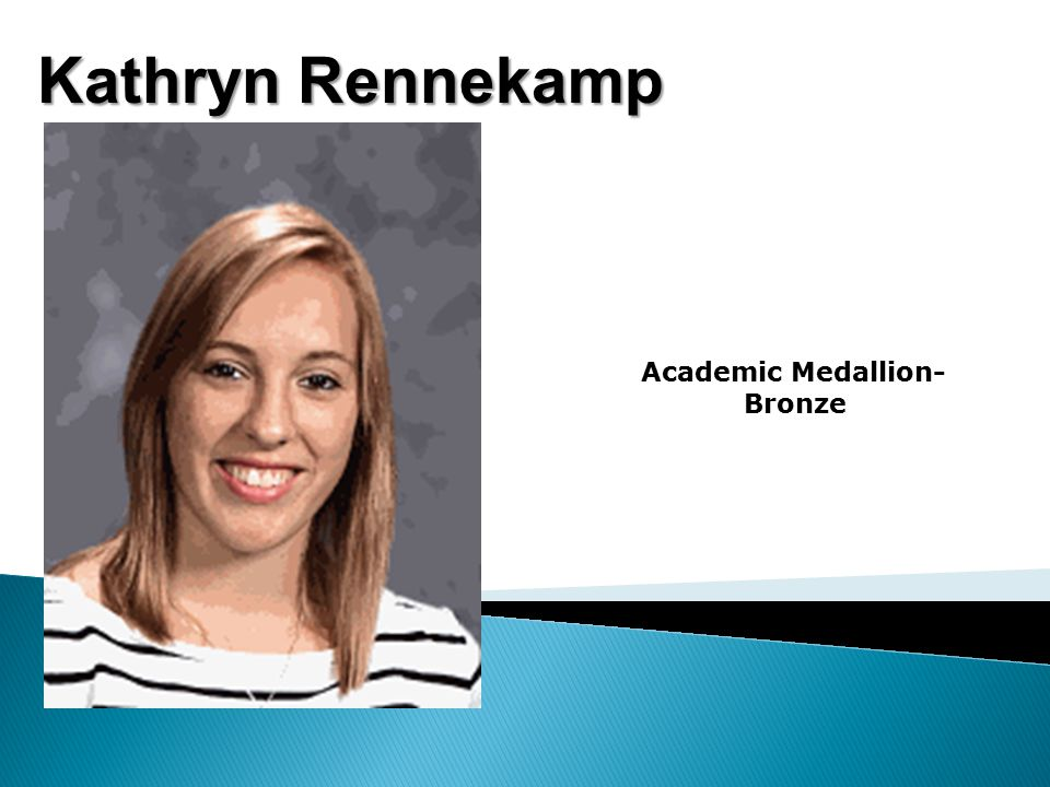 Kathryn Rennekamp Academic Medallion- Bronze