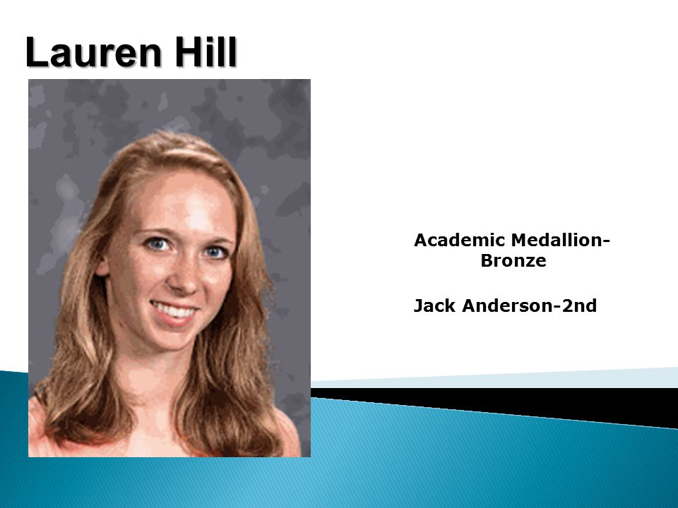 Lauren Hill Academic Medallion- Bronze Jack Anderson-2nd