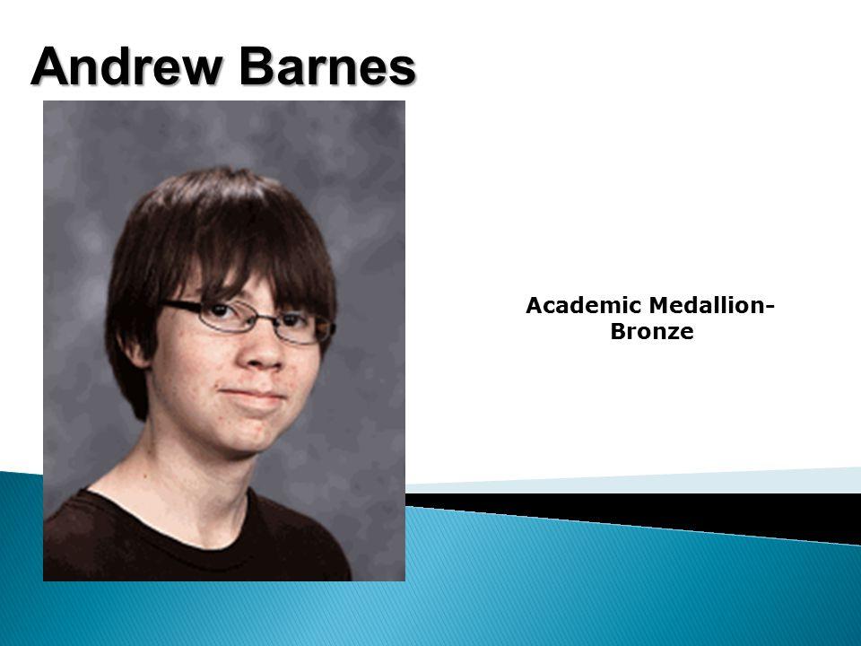 Andrew Barnes Academic Medallion- Bronze