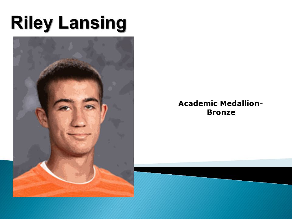 Riley Lansing Academic Medallion- Bronze