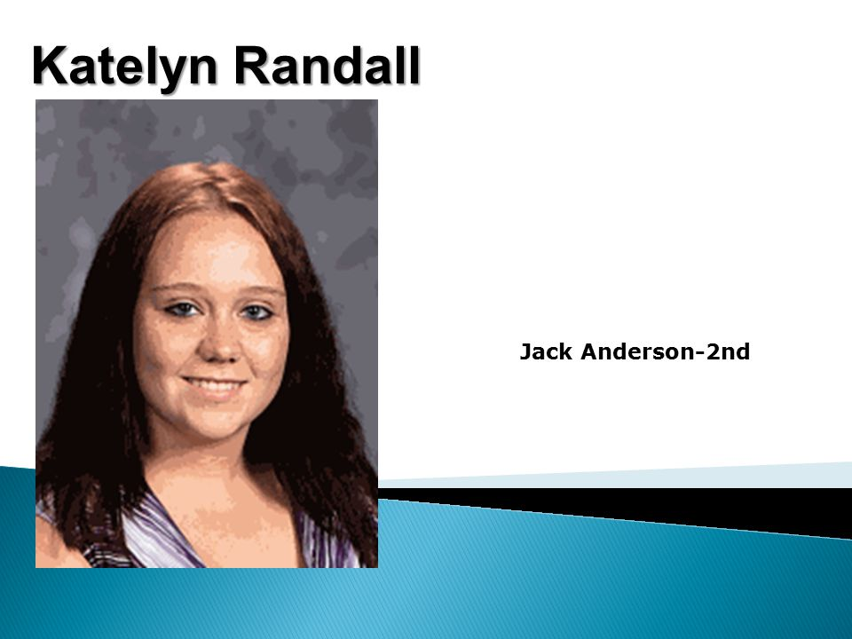 Katelyn Randall Jack Anderson-2nd