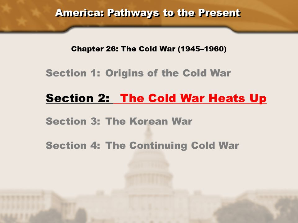 unit 1 b section 5 cold war events essay Chapter 20, section 1: kennedy and the cold war who was the 35th president of the united states  kennedy and the cold war unit 1 b section 5: cold war events we will write a custom.