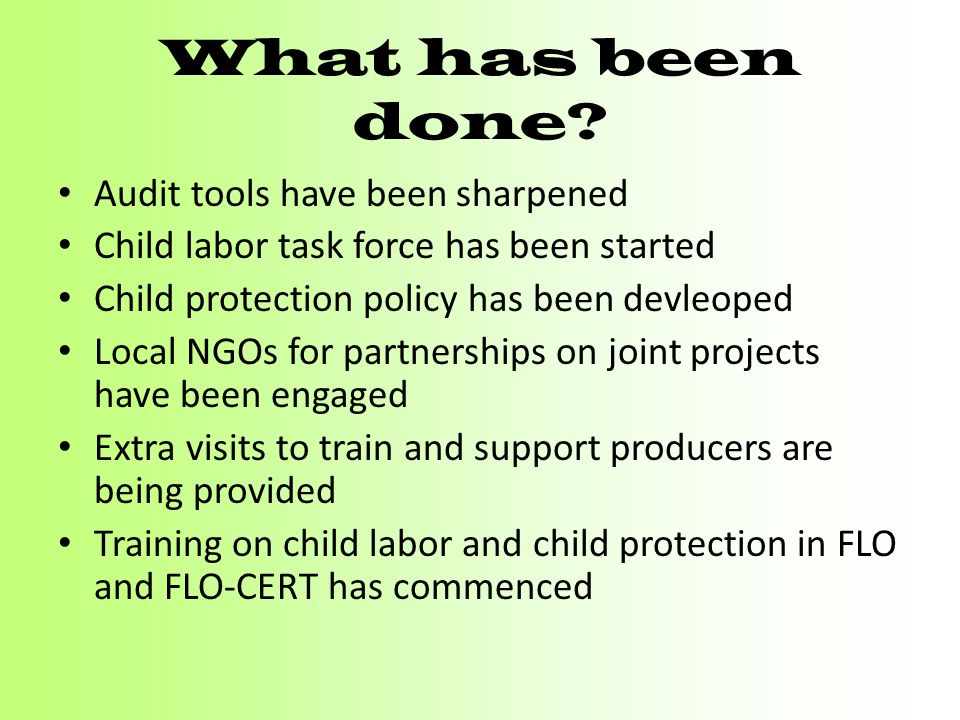 What has been done Audit tools have been sharpened