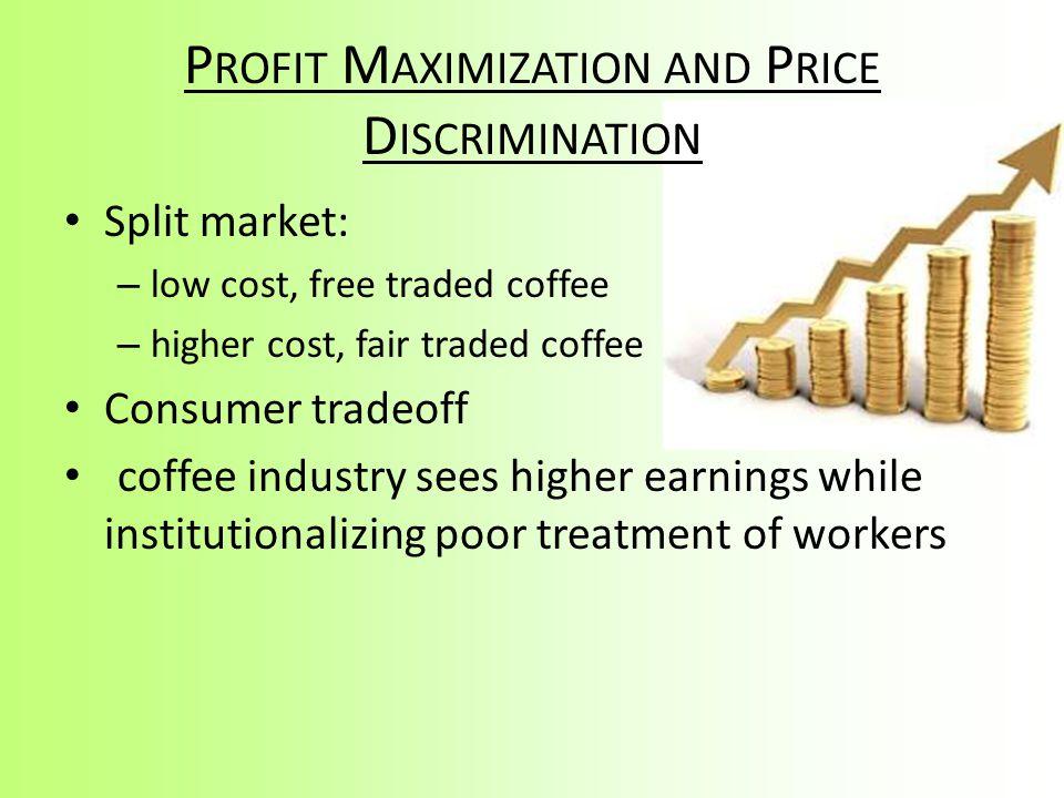 Profit Maximization and Price Discrimination