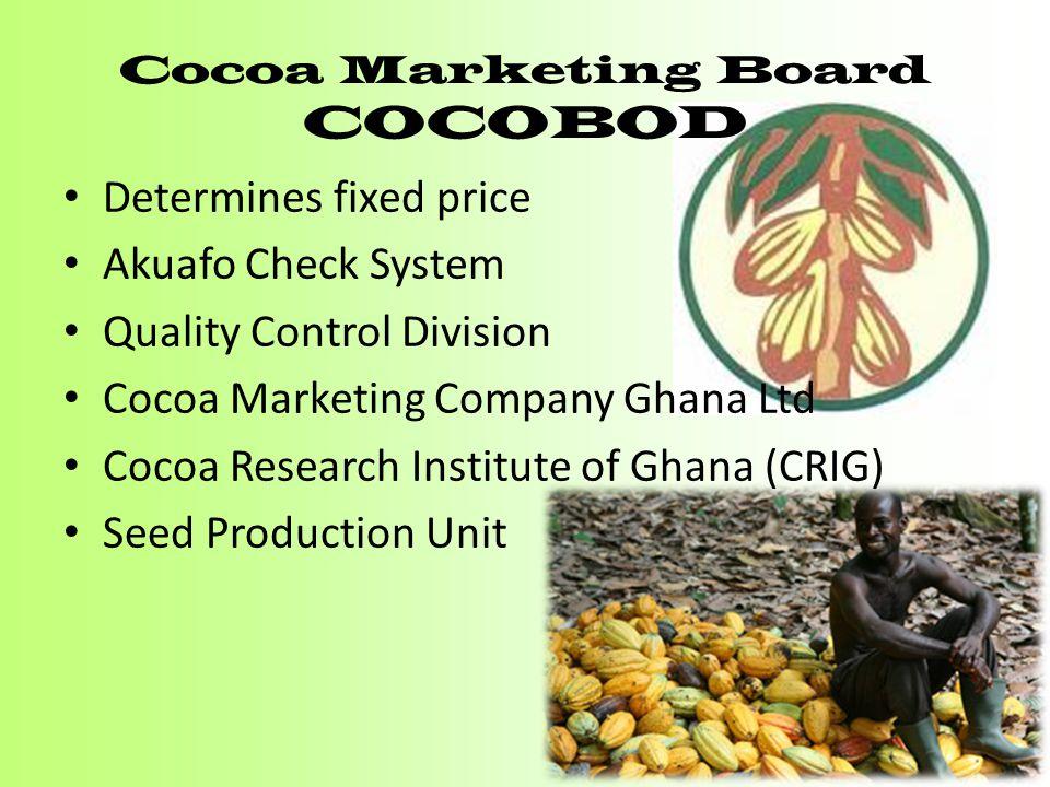 Cocoa Marketing Board COCOBOD