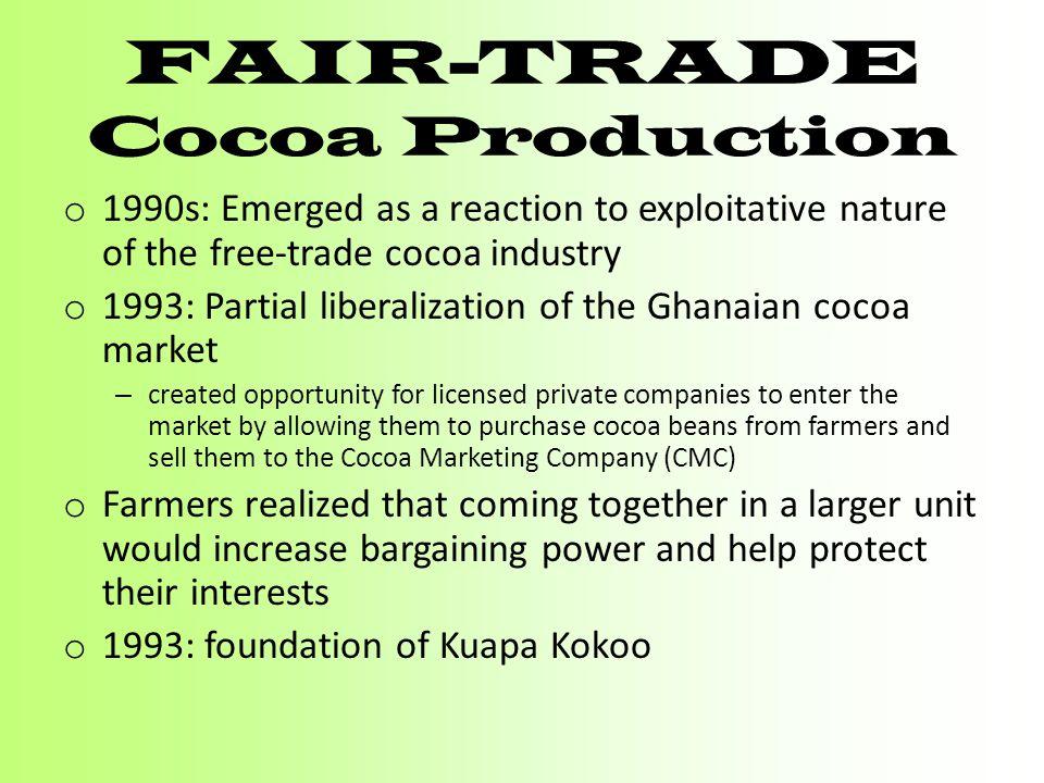 Fair-trade Cocoa Production