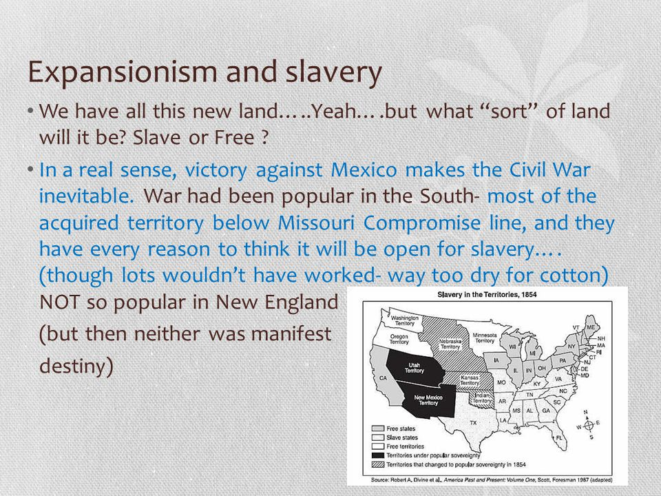 Expansionism and slavery