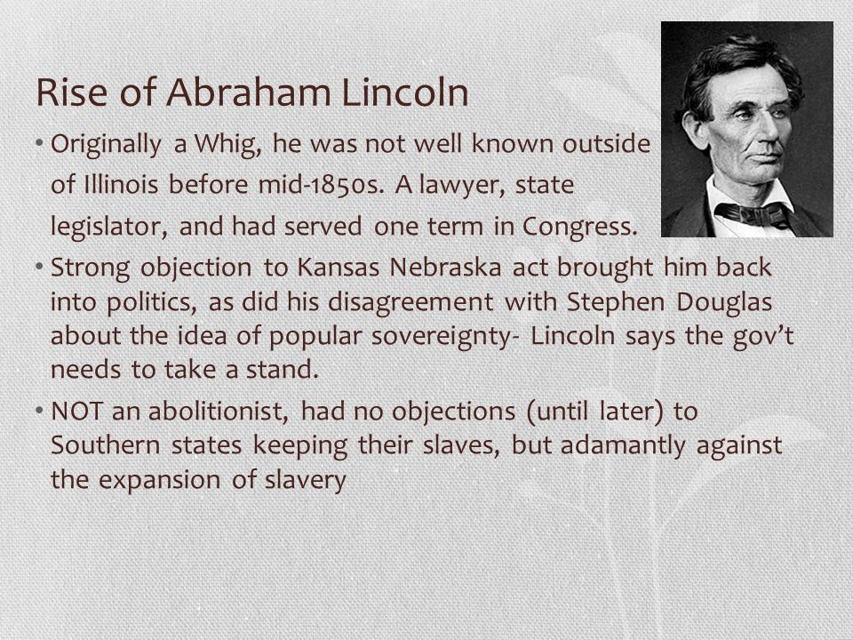 Rise of Abraham Lincoln