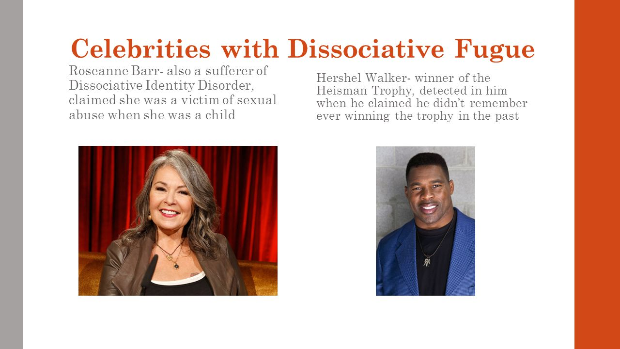 Celebrities with Dissociative Fugue