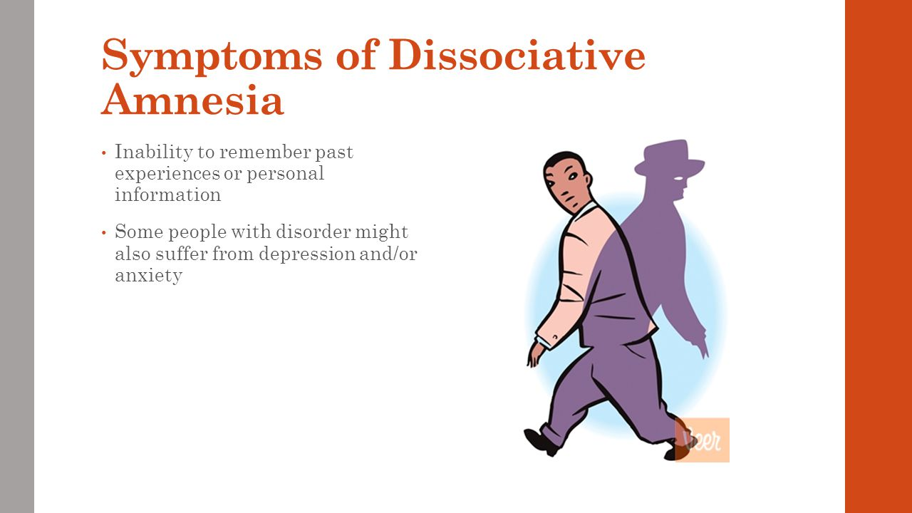Symptoms of Dissociative Amnesia