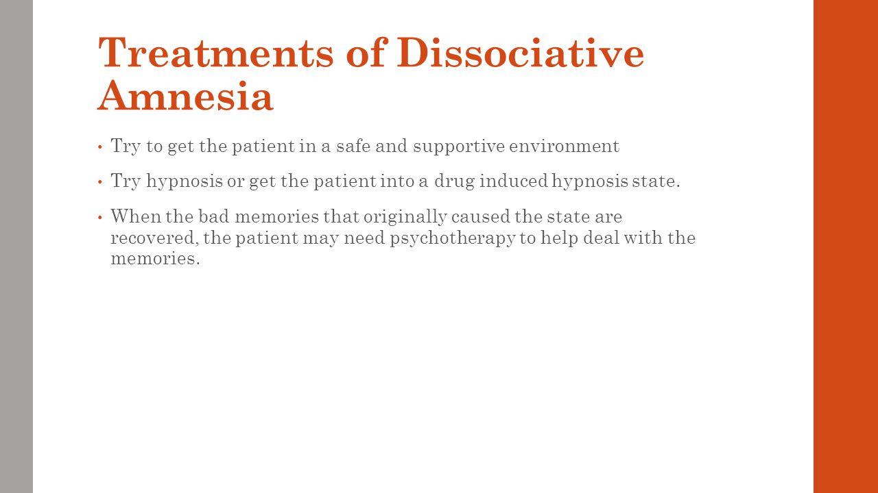 Treatments of Dissociative Amnesia
