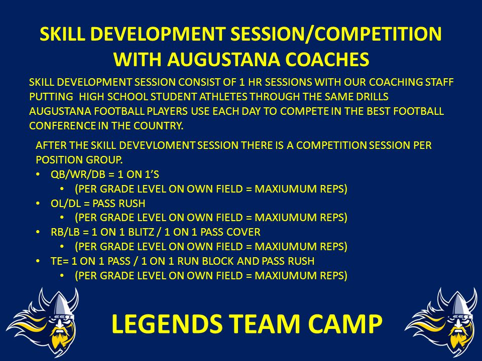 SKILL DEVELOPMENT SESSION/COMPETITION WITH AUGUSTANA COACHES