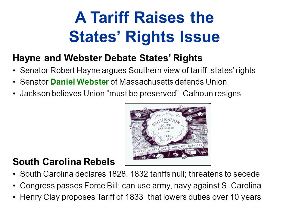 A Tariff Raises the States' Rights Issue