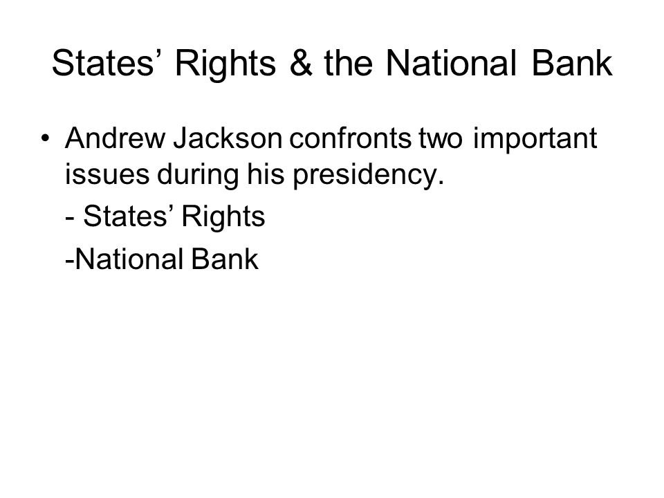 States' Rights & the National Bank