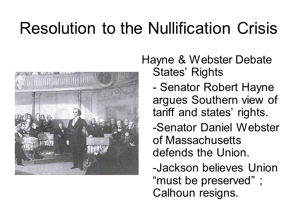 Resolution to the Nullification Crisis