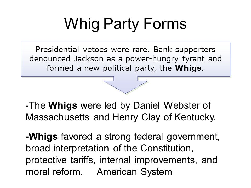 Whig Party Forms