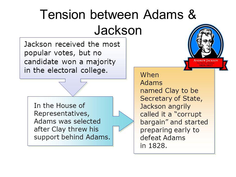 Tension between Adams & Jackson