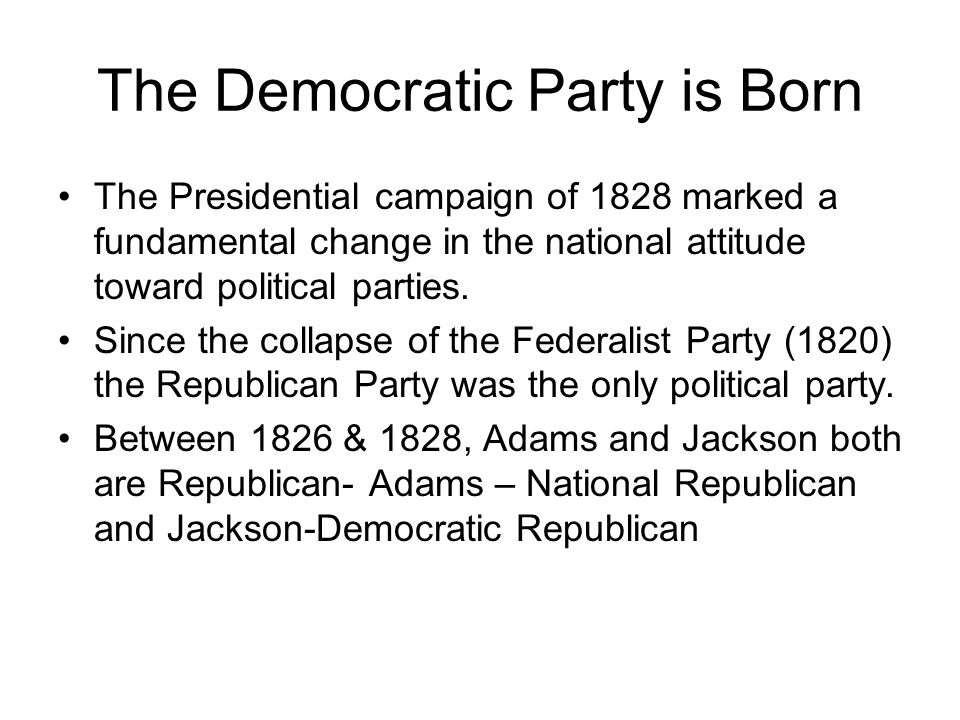 The Democratic Party is Born
