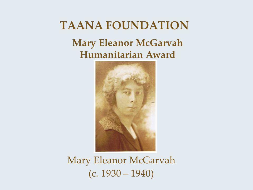 Mary Eleanor McGarvah Humanitarian Award