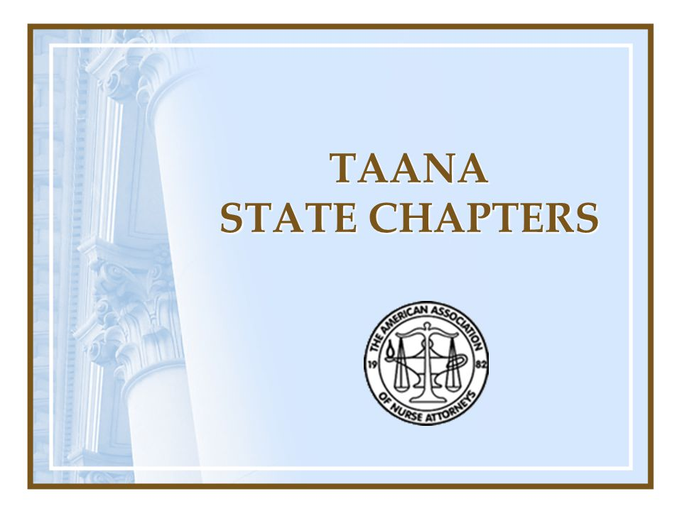 TAANA STATE CHAPTERS