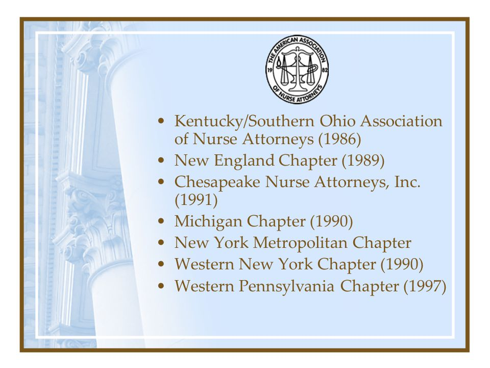 Kentucky/Southern Ohio Association of Nurse Attorneys (1986)