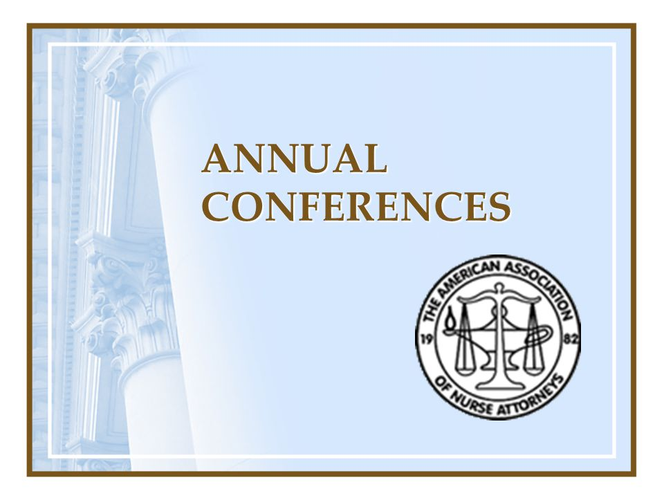 ANNUAL CONFERENCES
