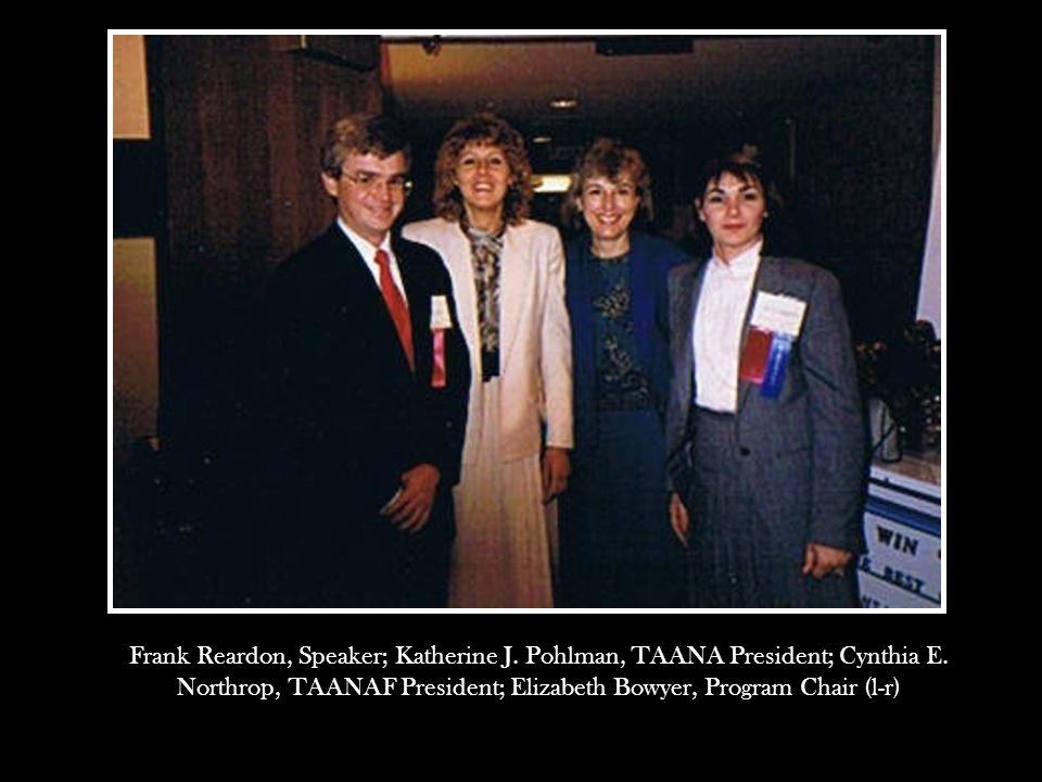 Frank Reardon, Speaker; Katherine J