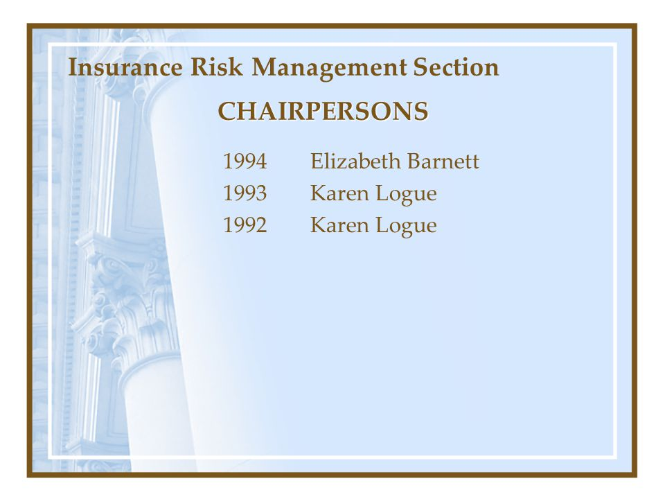 Insurance Risk Management Section
