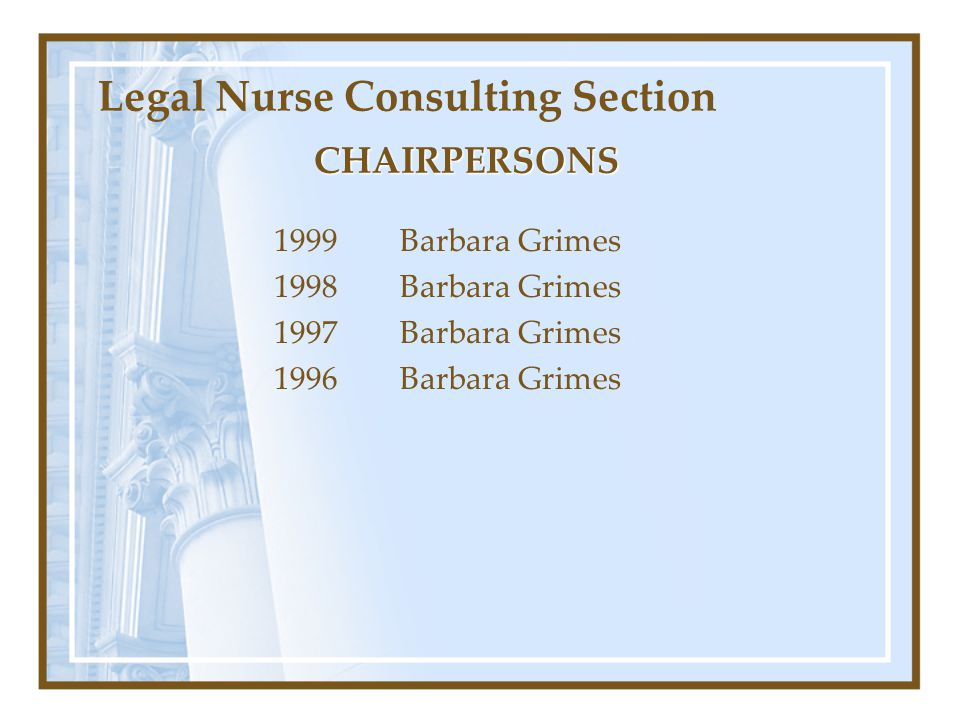 Legal Nurse Consulting Section