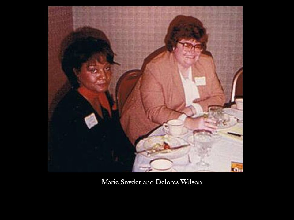 Marie Snyder and Delores Wilson