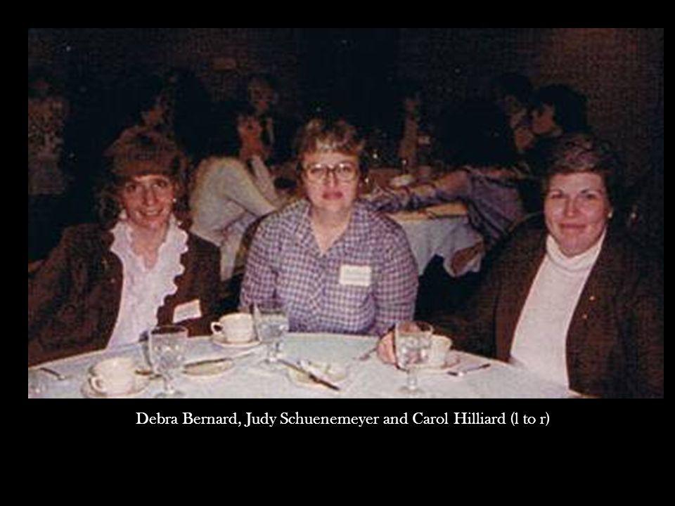 Debra Bernard, Judy Schuenemeyer and Carol Hilliard (l to r)