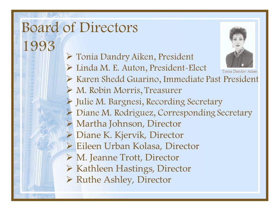 Board of Directors 1993 Tonia Dandry Aiken, President