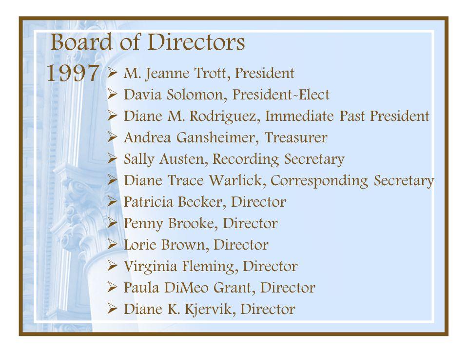 Board of Directors 1997 M. Jeanne Trott, President