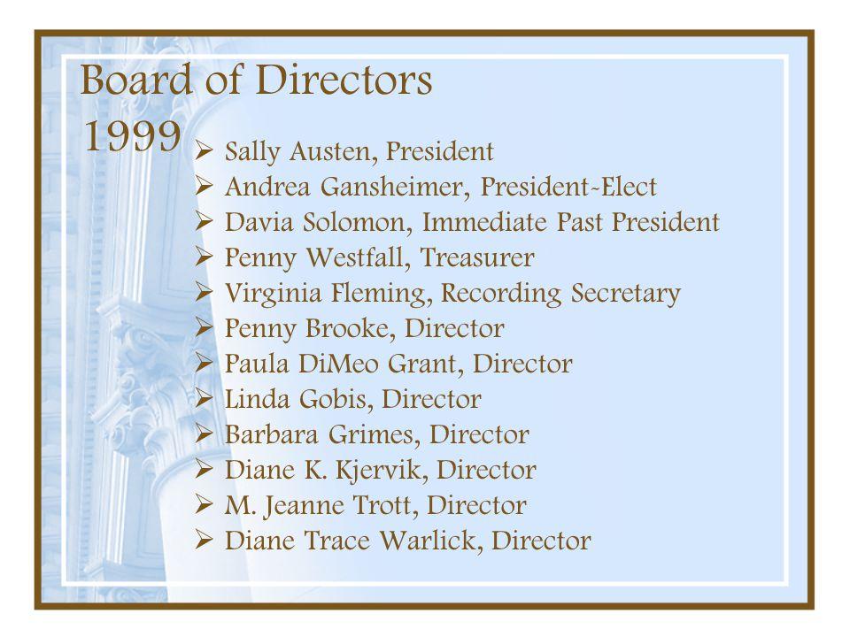 Board of Directors 1999 Sally Austen, President