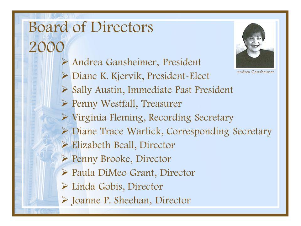 Board of Directors 2000 Andrea Gansheimer, President