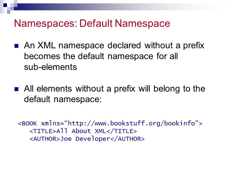 Namespaces: Default Namespace