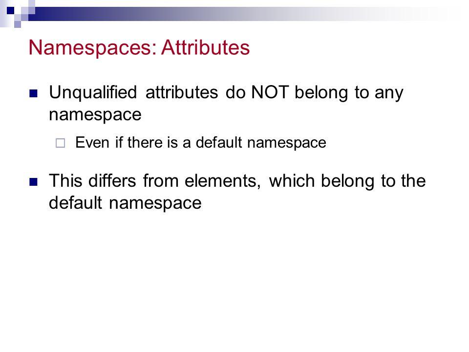 Namespaces: Attributes
