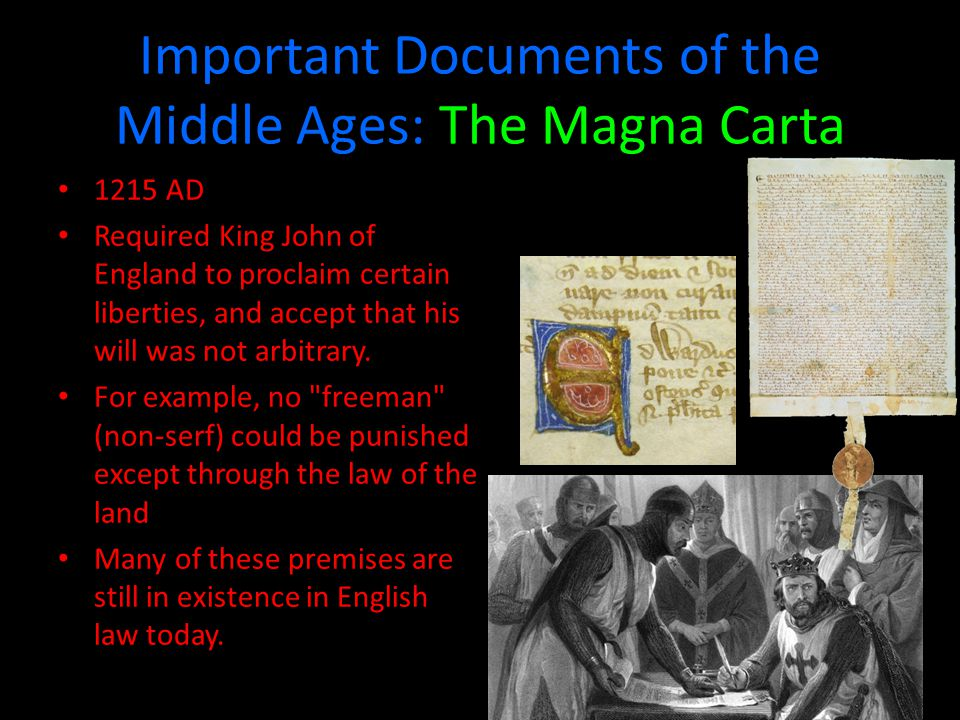 Important Documents of the Middle Ages: The Magna Carta