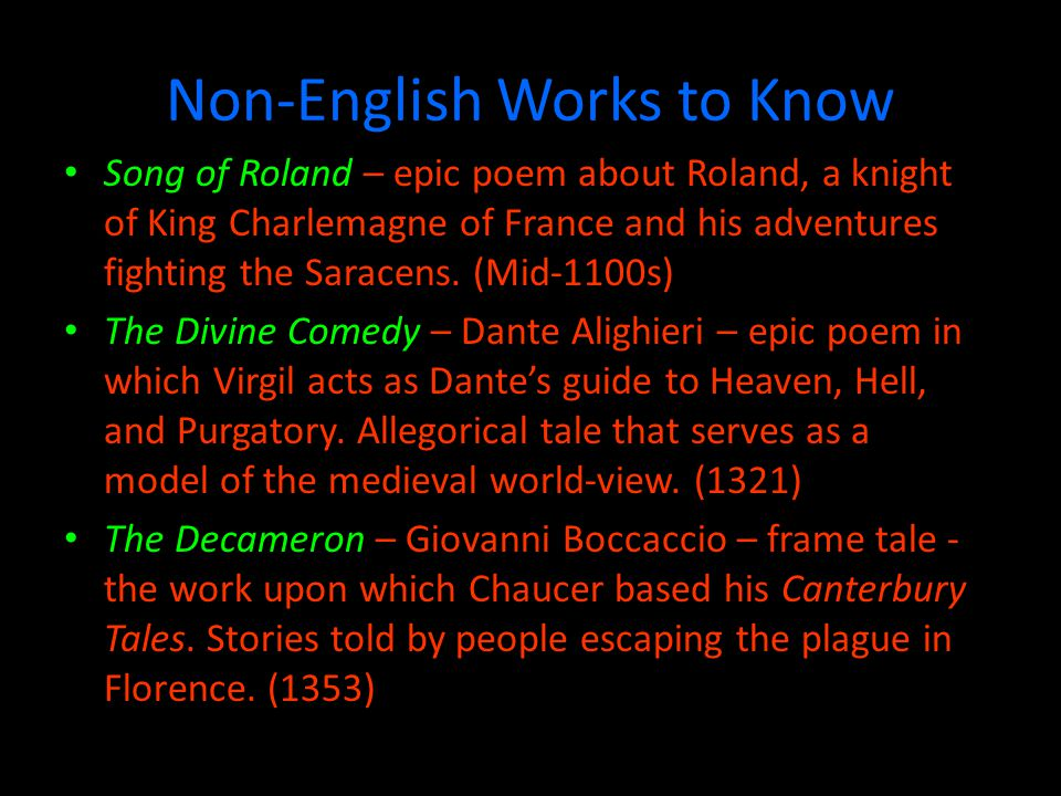 Non-English Works to Know