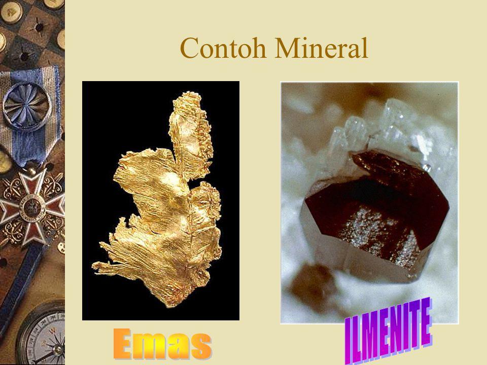 Contoh Mineral ILMENITE Emas