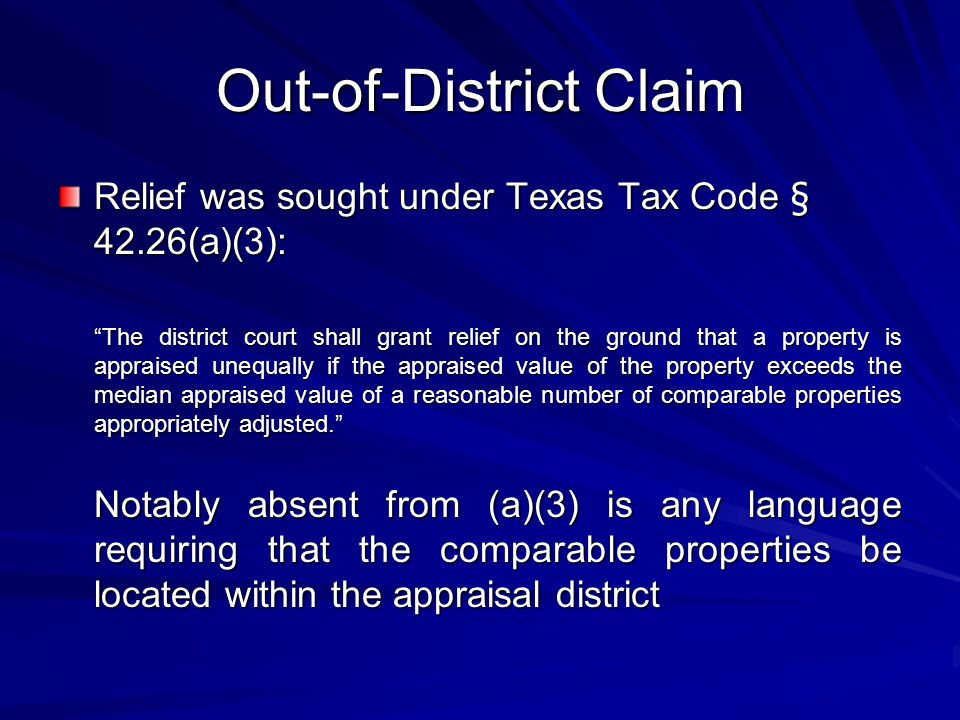 Out-of-District Claim