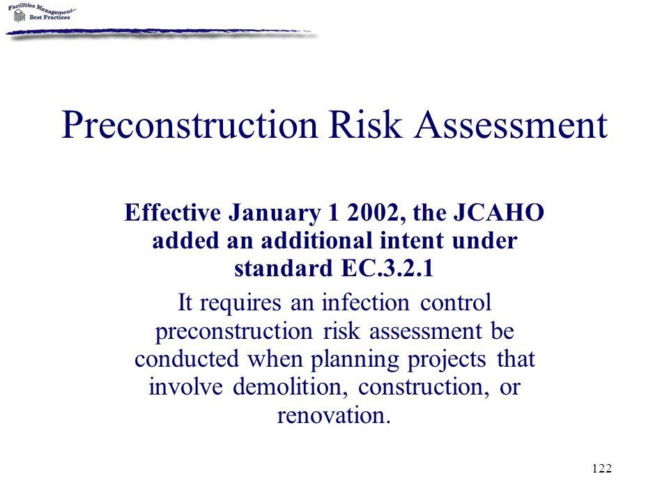 Preconstruction Risk Assessment
