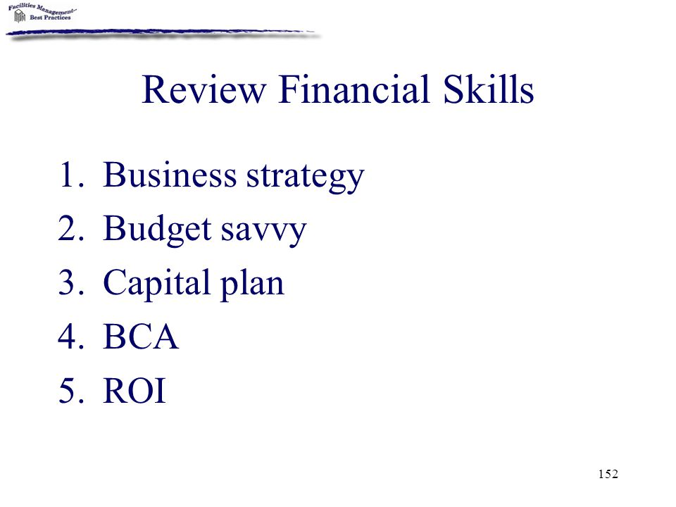 Review Financial Skills