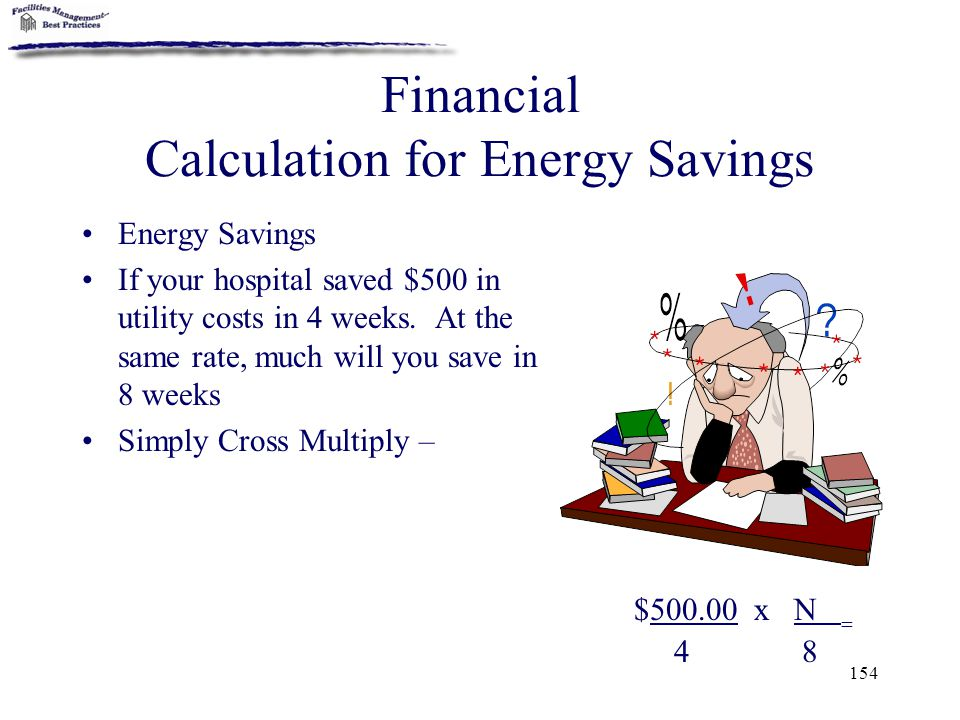 Financial Calculation for Energy Savings